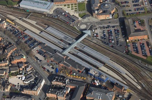 Derby railway Station Derby aerial photo