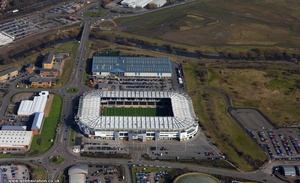 Pride Park Stadium  Derby aerial photo