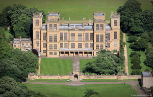 Hardwick Hall Derbyshire aerial photograph