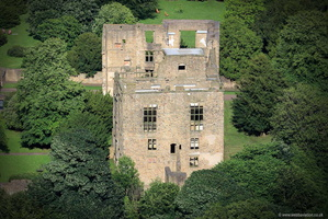 Hardwick Old  Hall Derbyshire  aerial photograph