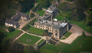 Ilam Hall Derbyshire  aerial photograph