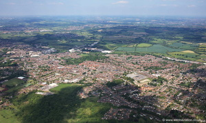 Ilkeston  Derbyshire from the air