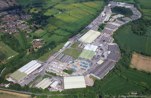 West Hallam Industrial Estate Ilkeston  Derbyshire from the air