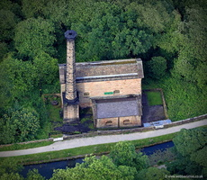 Leawood Pump House, Derbyshire England aerial photograph