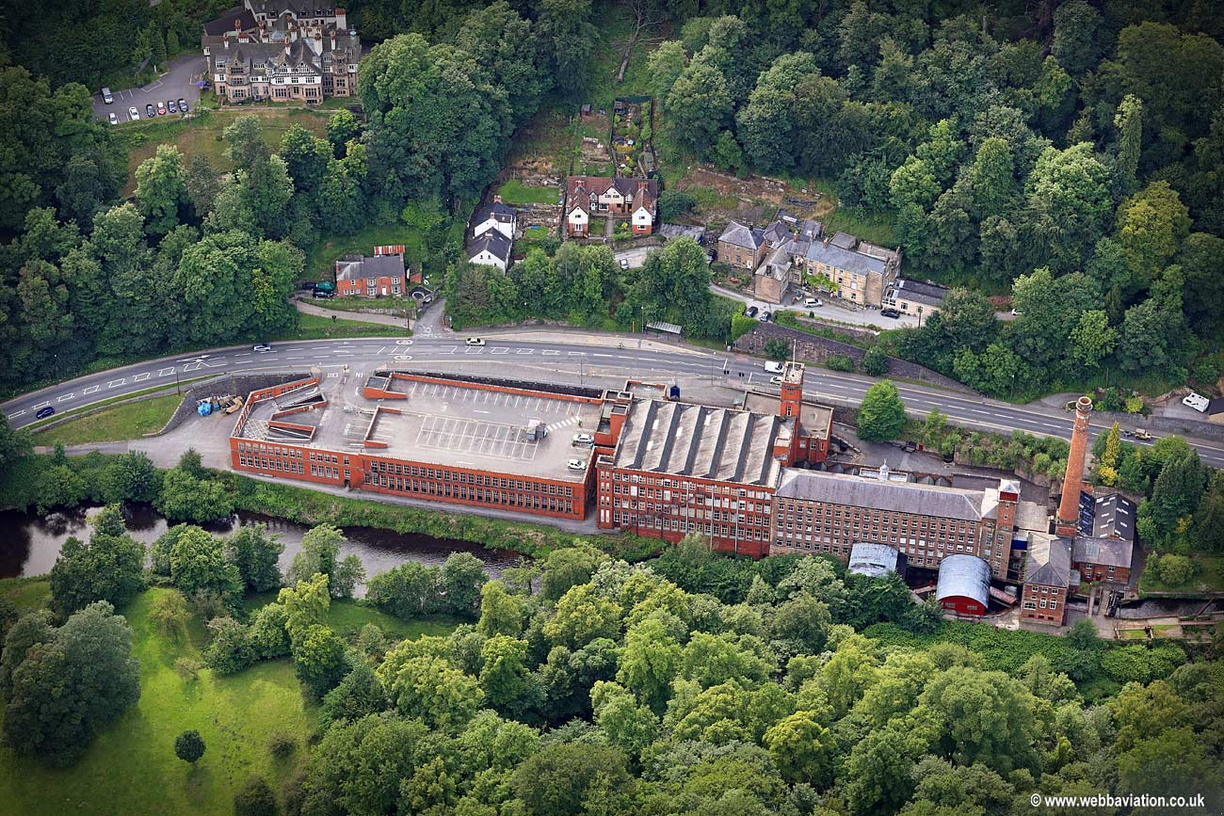 Masson Mill Derbyshire aerial photograph