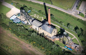 Pleasley Colliery Derbyshire aerial photograph