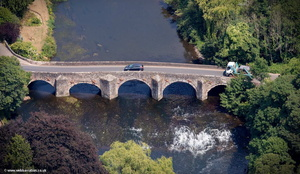 Bickleigh Bridge from the air