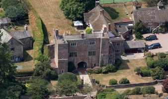 Bickleigh Castle Gatehouse from the air