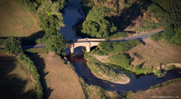Cadhay Bridge , Ottery St Mary, Devon from the air