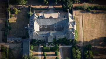 Cadhay House Devon from the air