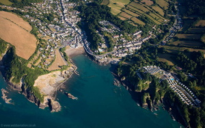 Combe Martin aerial photograph