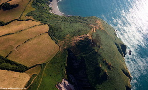 Little Hangman cliffs  near Coombe Martin Devon aerial photograph