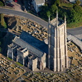 Church of St Peter ad Vincula, Combe Martin aerial photograph