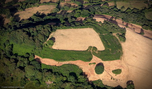 Dumpdon Camp Iron Age  hillfort   from the air