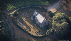 Escot Church   Devon from the air