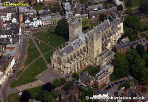 Exeter Cathedral Devon aerial photograph