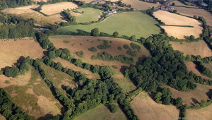 Roundball hill, Honiton from the air