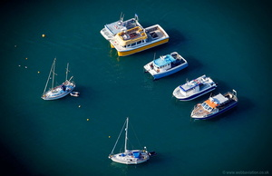 boats in Ilfracombe Harbour  aerial photograph