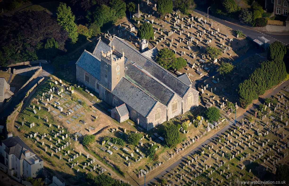 Holy Trinity Church, Ilfracombe aerial photograph