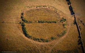 Beacon Castle Iron Age enclosure  aerial photograph