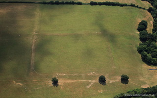 North Tawton Roman Fort or marching camp Devon  from the air