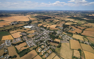 North Tawton Devon  from the air