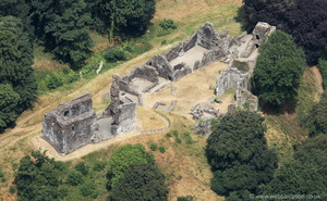 Okehampton Castle   from the air