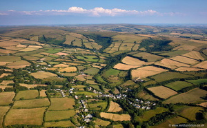 Parracombe Devon aerial photograph