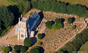 St Petrock's Church, Parracombe  Devon aerial photograph