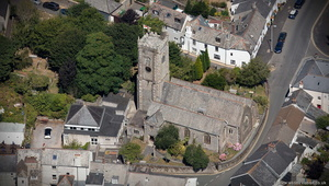 Church of St Maurice, Plympton St Maurice aerial photograph
