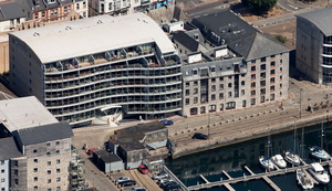 Discovery Wharf North Quay Sutton Harbour Plymouth Devon Pl4  aerial photograph