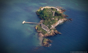 Drake's Island Plymouth  aerial photograph
