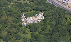 Fort Efford Plymouth  aerial photograph