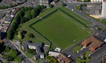 Millbay Park Plymouth UK aerial photograph