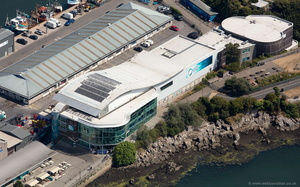 National Marine Aquarium, Plymouth aerial photograph