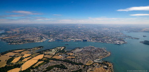 Plymouth UK aerial photograph