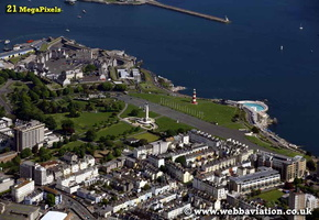 Plymouth Hoe  Devon aerial photograph
