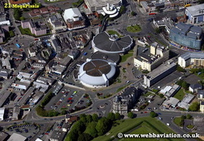 Plymouth Pavillions Devon aerial photograph