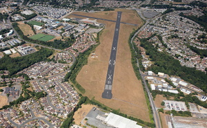 Plymouth City Airport aerial photograph