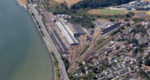 Plymouth Laira Traction Maintenance Depot TMD  aerial photograph
