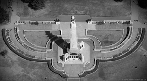 Plymouth Naval Memorial,  Plymouth Hoe aerial photograph