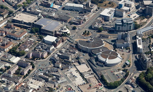 Plymouth Pavilions aerial photograph