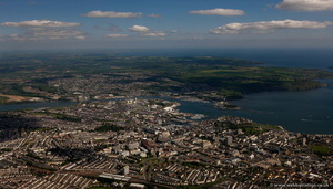 Plymouth  UK from the air
