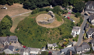 Plympton Castle aerial photograph