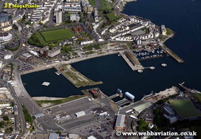 Plymouth port Devon aerial photograph