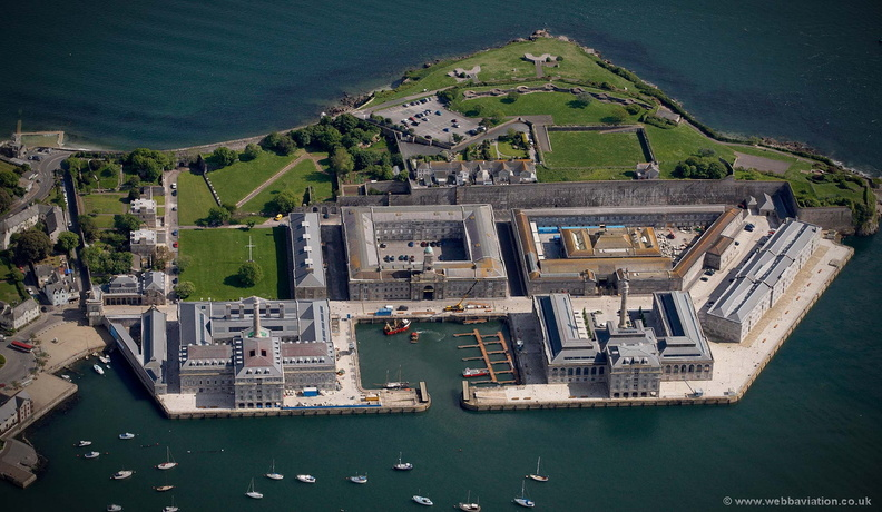 Royal William Yard Plymouth  aerial photograph