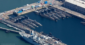 submarine graveyard at Plymouth  aerial photograph