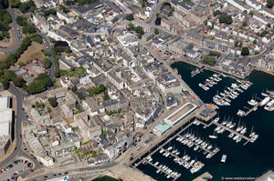 the Barbican & Southside Street , Plymouth  aerial photograph