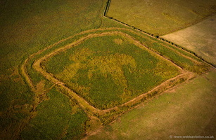 Shoulsbury castle Iron Age hill fort aerial photograph