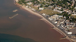 Coastal Defences at Sidmouth from the air